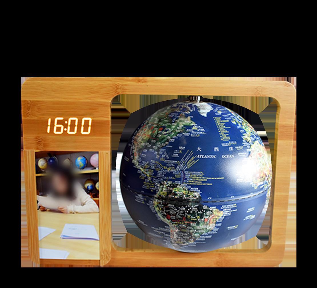8英寸(20cm)卫星时钟相框款触控夜灯地球仪