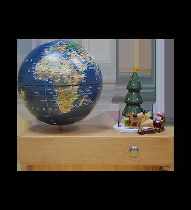 5英寸(13cm)圣诞骑趣-卫星款触控灯音乐地球仪