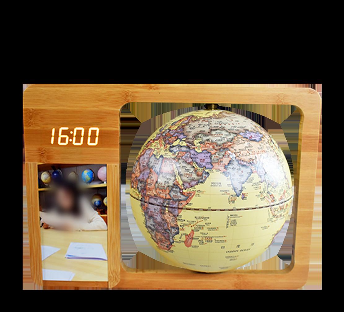 8英寸(20cm)仿古时钟相框款触控夜灯地球仪