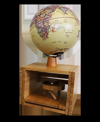 8英寸(20cm)仿古可伸缩书架夜灯地球仪