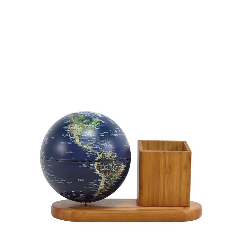 5英寸(13cm)充电式触控款卫星笔筒音乐地球仪