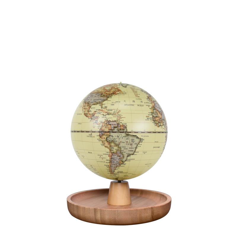 5英寸(13cm)充电式触控款仿古置物盒音乐地球仪