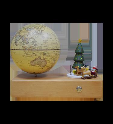 5英寸(13cm)圣诞骑趣-仿古款触控灯音乐地球仪